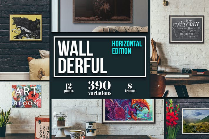 "Cover Image For ""Wallderful"" - Horizontal Mockups"