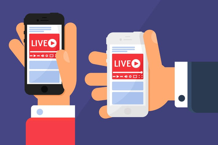 Thumbnail for Live Streaming In Hand Illustration