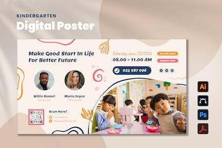 Kindergarten Digital Poster