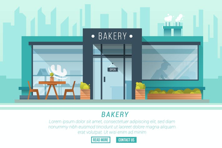 Thumbnail for Bakery - Vector Landscape & Building