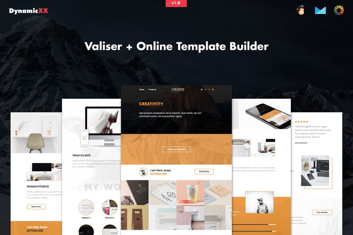 Cover Image For Valiser - Responsive Portfolio / Creative Email