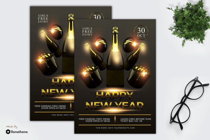 Thumbnail for Happy New Year Flyer Template MR