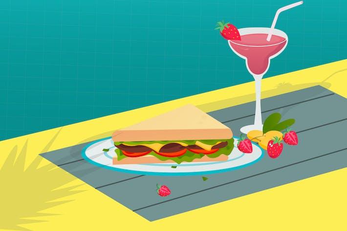 Sandwich-Illustration