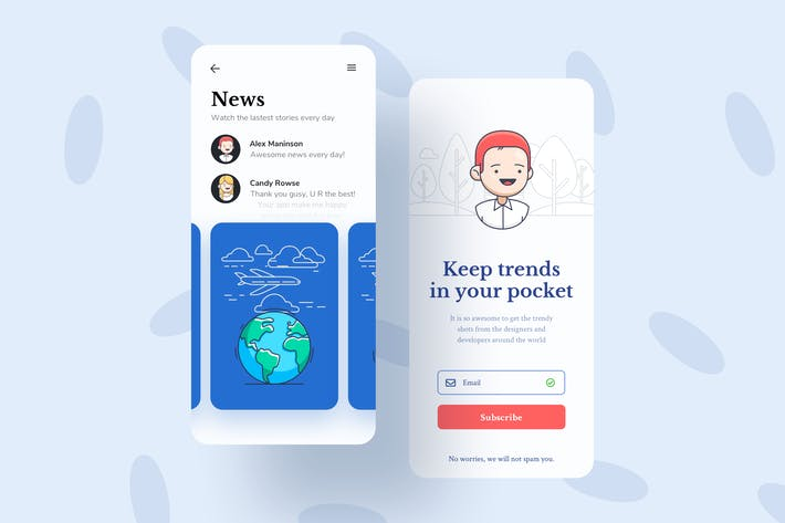 Thumbnail for News Mobile Interface Illustrations