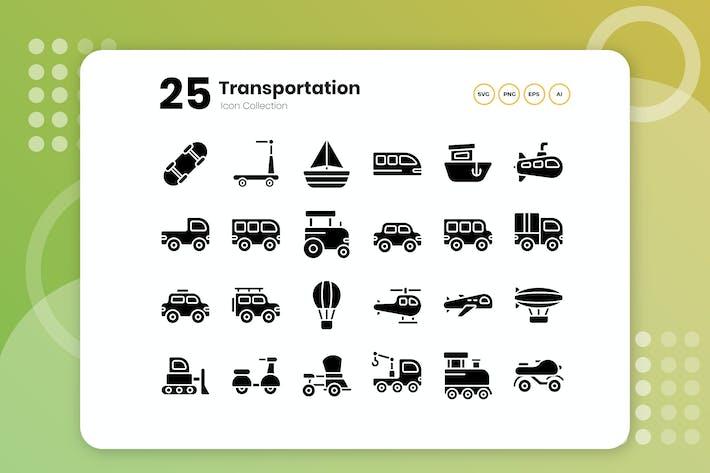 Thumbnail for 25 Transportation Glyph Icon