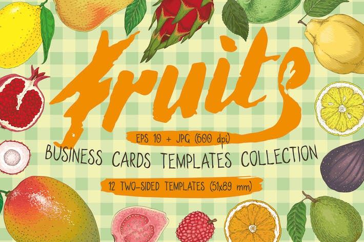 Thumbnail for Modèles de cartes de visite Fruit
