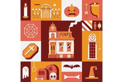 Vintage Halloween Card or Poster