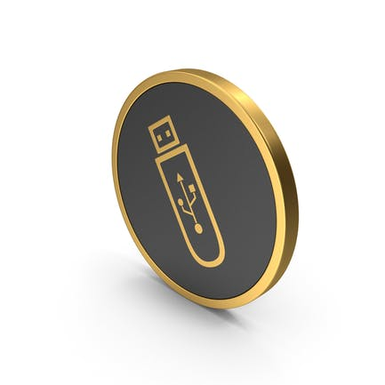 Gold Icon USB Flash