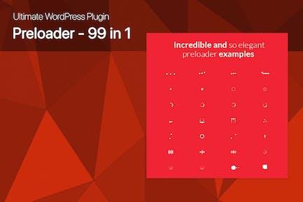Ultimate WordPress Preloader - 99 CSS3 Preloaders