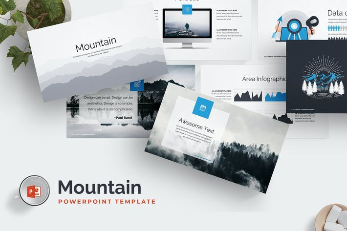 Cover Image For Mountain Powerpoint Template