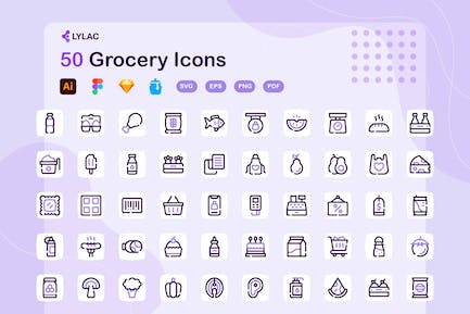 Lylac - Grocery Icons