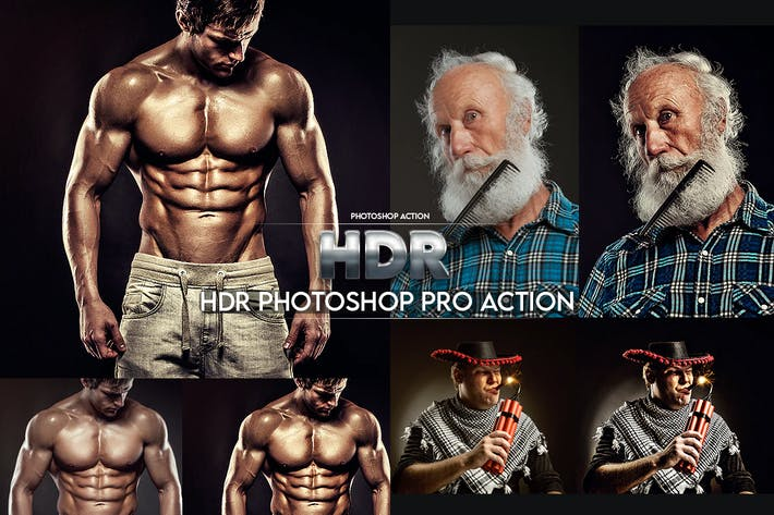 Thumbnail for HDR Photoshop Pro Action