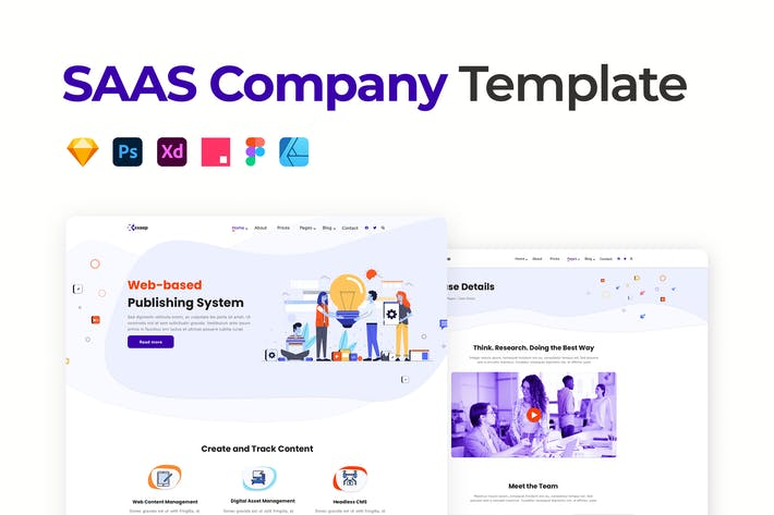 Thumbnail for SAAS Company Template