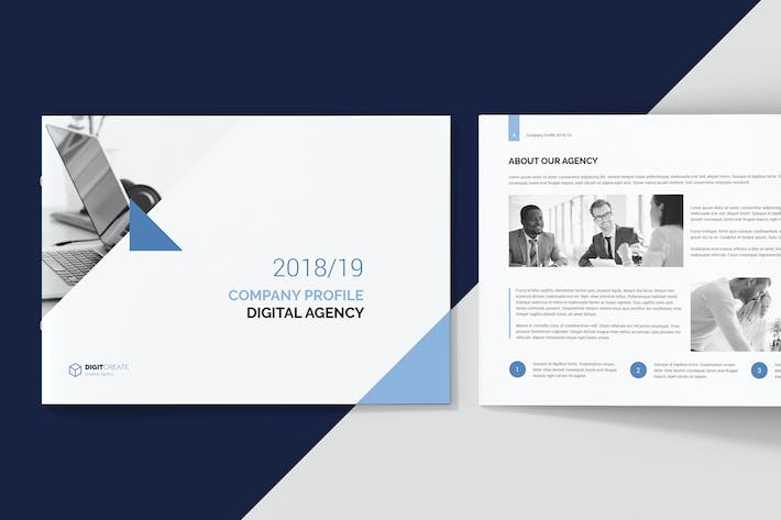 Thumbnail for Digital Agency – Company Profile Landscape