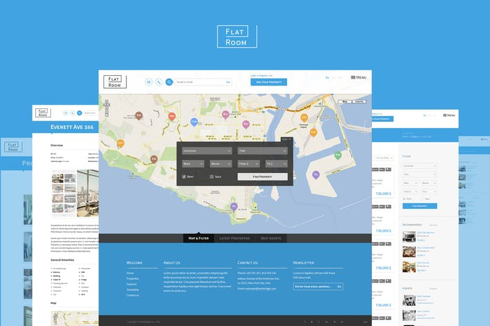 Thumbnail for FlatRoom — Responsive Real Estate HTML Template