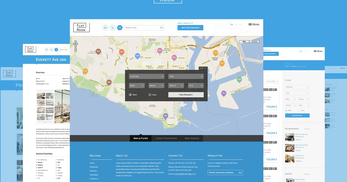 Download FlatRoom — Responsive Real Estate HTML Template by WpWay_