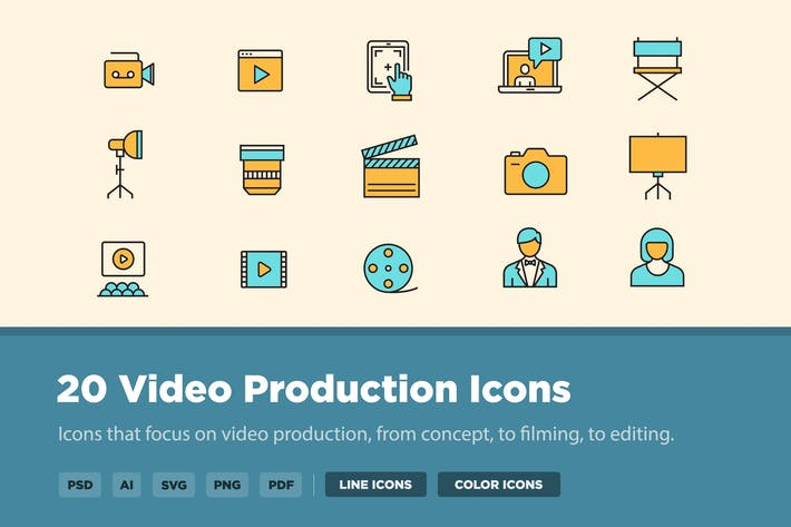 Thumbnail for 25 Video Production Icons