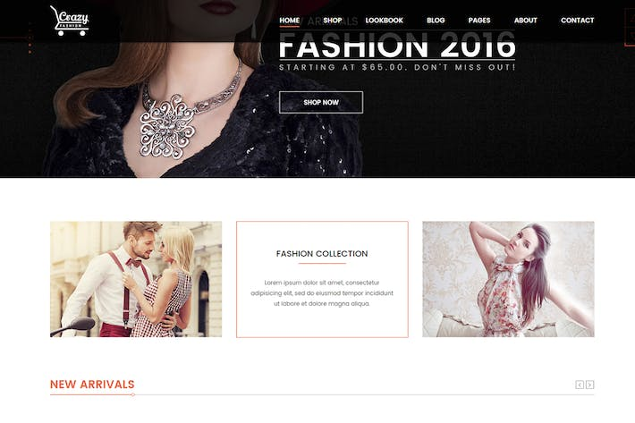 Thumbnail for Crazy Fashion - eCommerce HTML5 template