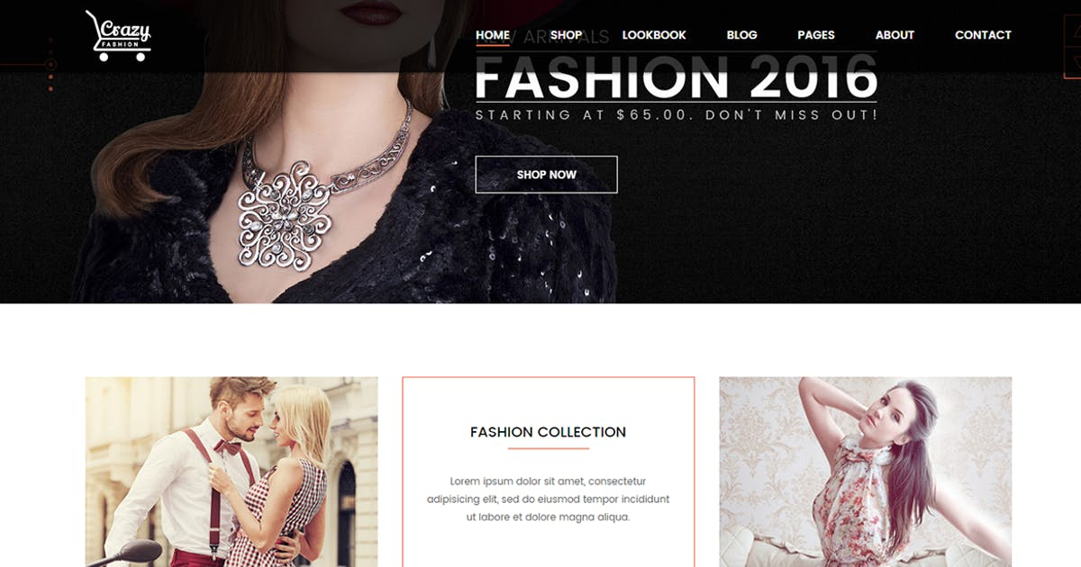 Crazy Fashion - eCommerce HTML5 template by codecarnival