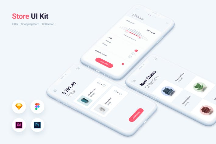 Thumbnail for Shoppen & Shoppen Mobile App UI Kit-Vorlage