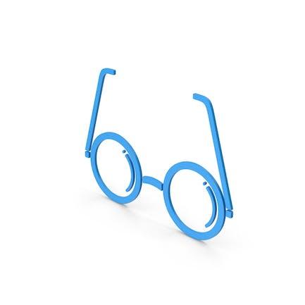 Symbol Brille Blau