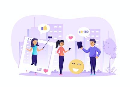 Social Network and Internet Blogging Scene