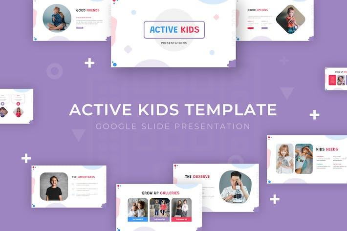 Active Kids - Google Slide Template