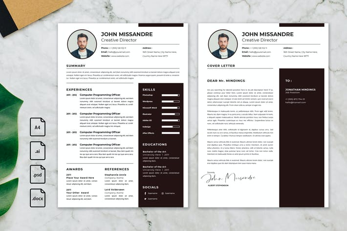 Thumbnail for Professional CV And Resume Template Missandre