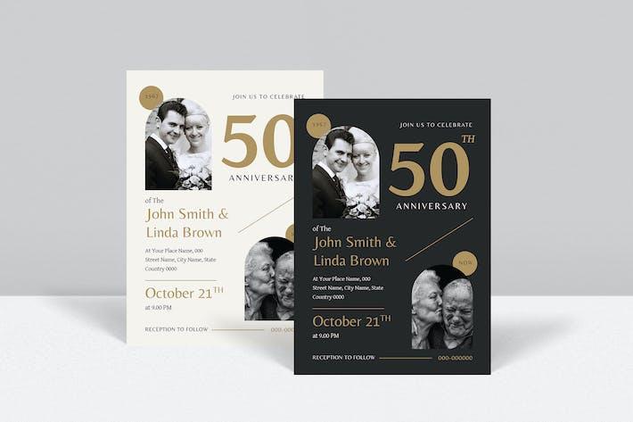 Wedding Anniversary Invitation