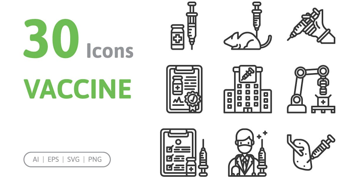 Download 30 Vaccine Icons by konkapp