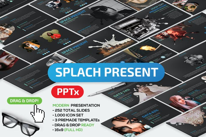 Thumbnail for Splach Powerpoint Template