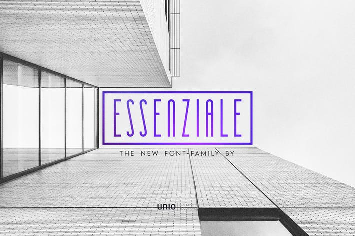 Thumbnail for Essenziale - Font Family