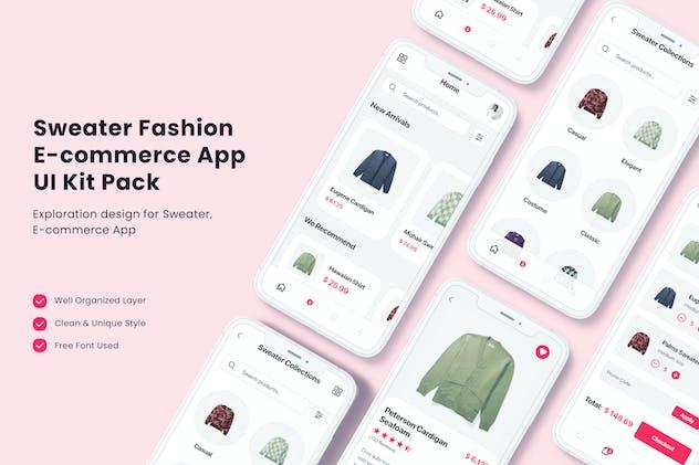 Sweater Fashion E-commerce App UI Kit