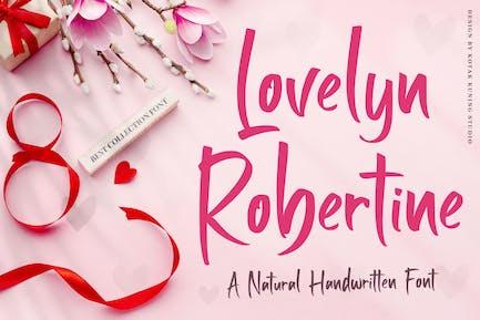 Lovelyn Robertine - Handwritten Font