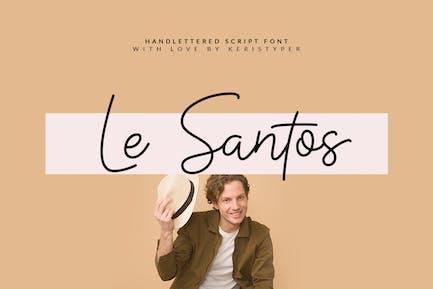 Le Santos Handwriting Font