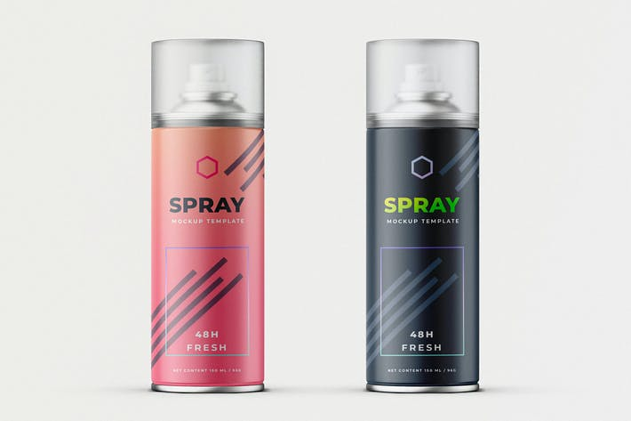 Thumbnail for Deodorant Spray Can Mock-Up Template
