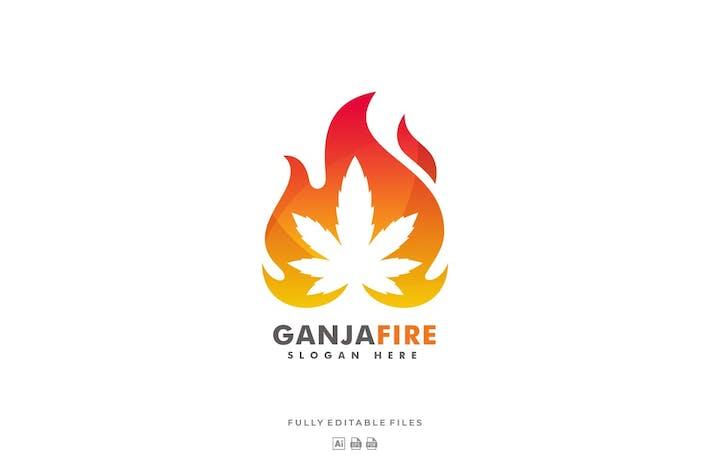 Thumbnail for Ganja Fire Colorful Logo