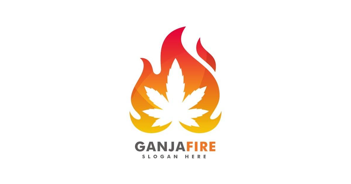 Download Ganja Fire Colorful Logo by ivan_artnivora