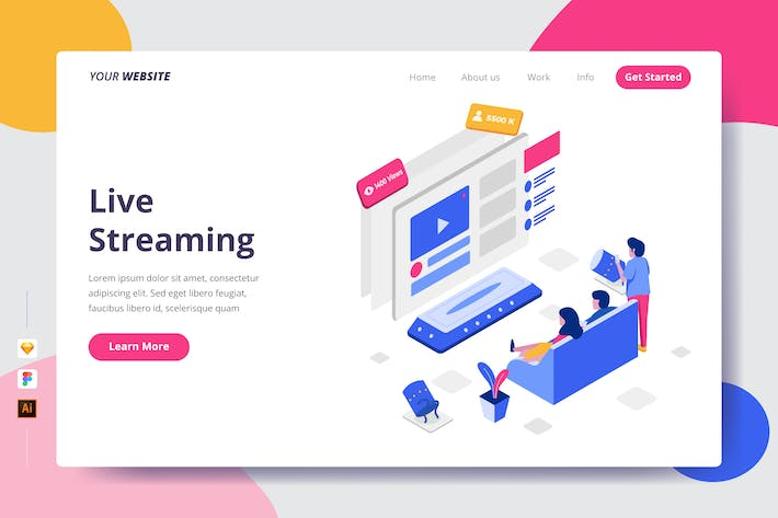 Thumbnail for Live Streaming - Landing Page