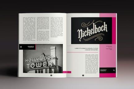 Next Magazine Indesign Template