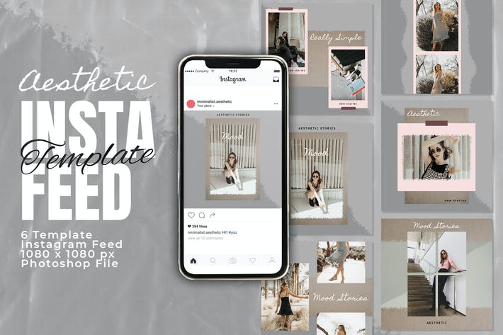 Thumbnail for Minimalist Instagram Feed Post Template