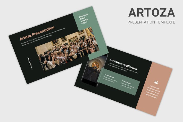 Thumbnail for Artoza - Art Gallery / Exhibition Keynote