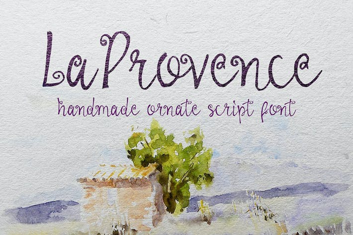 Cover Image For La Provence Font