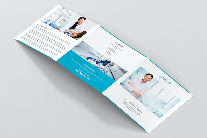 Thumbnail for Brochure – Dentist Tri-Fold Square