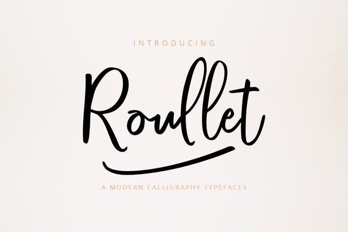 Thumbnail for Roullet Fonts