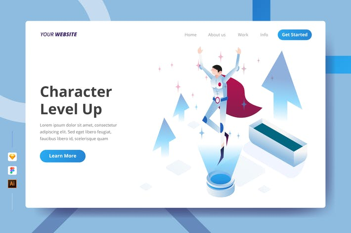 Thumbnail for Character Level Up - Landing Page