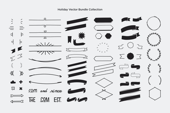 Thumbnail for Holiday Vector Collection Bundle