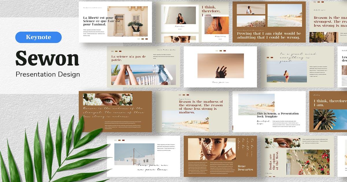 Download Sewon - Presentation Template Keynote by sudutlancip