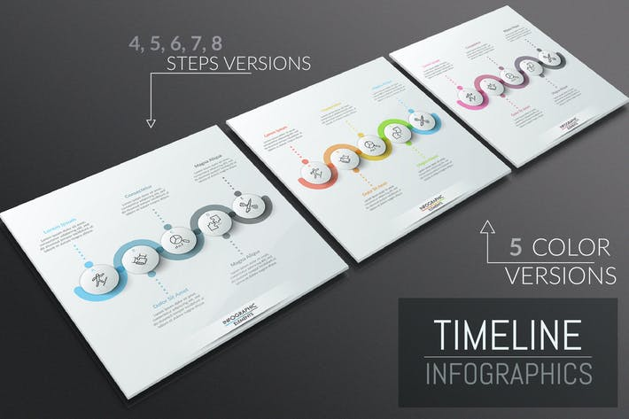 Thumbnail for 25 Infographic Timelines