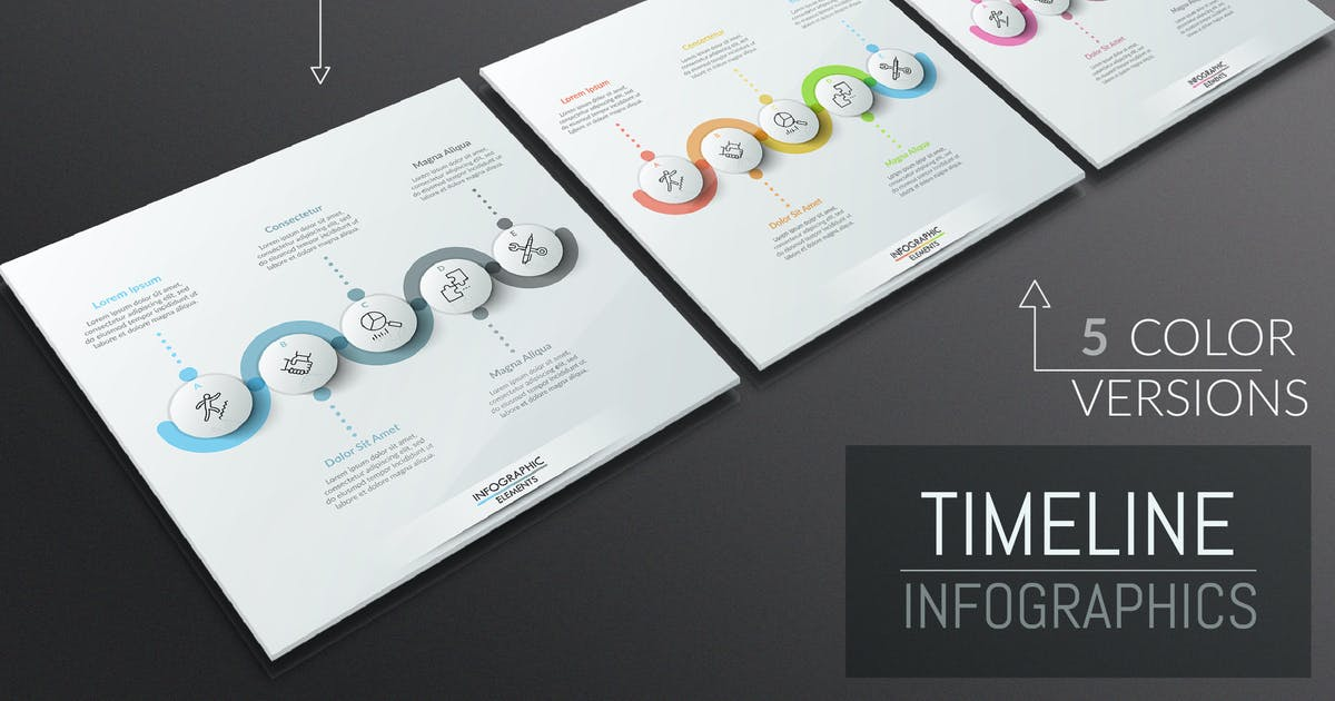 Download 25 Infographic Timelines by Andrew_Kras